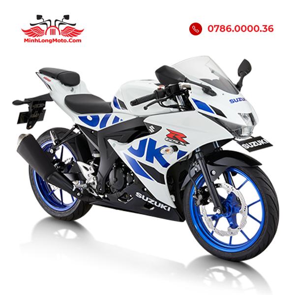 GSX R150 trắng xanh