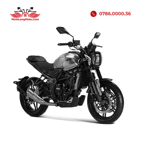 xe moto MAD 300cc màu bạc