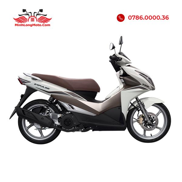 Suzuki Impulse màu trắng nâu bạc
