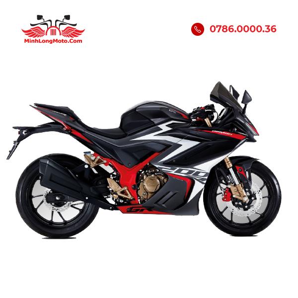 Demon GR200R màu Đen Đỏ Trắng