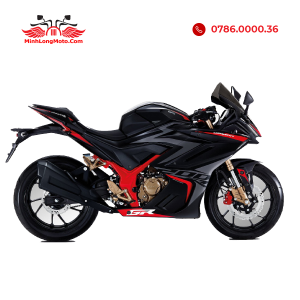 Demon GR200R màu đen đỏ